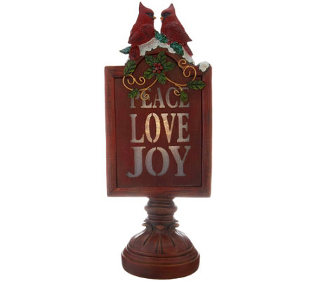 "15"" Illuminated Joy, Peace, and Love Sign by Valerie"
