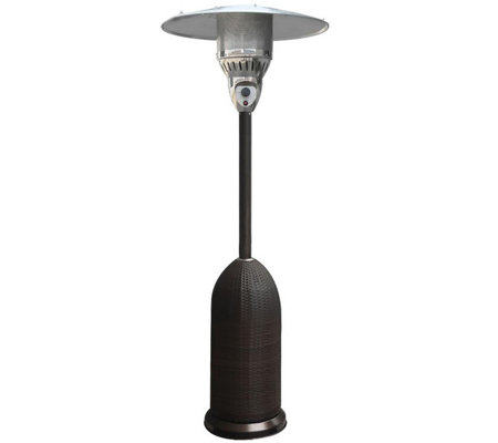 Hanover 7-ft 41,000 BTU Round Wicker Patio Heater - Black
