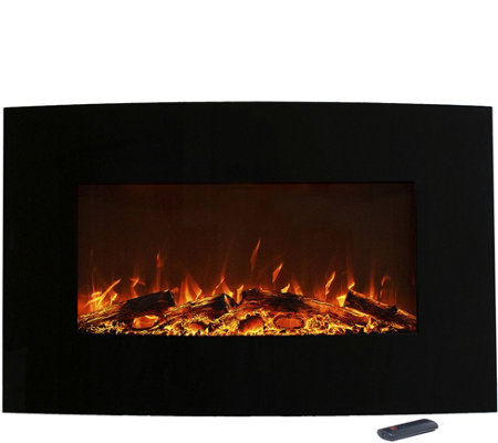 "Northwest 36"" Curved Color Changing Fireplace"