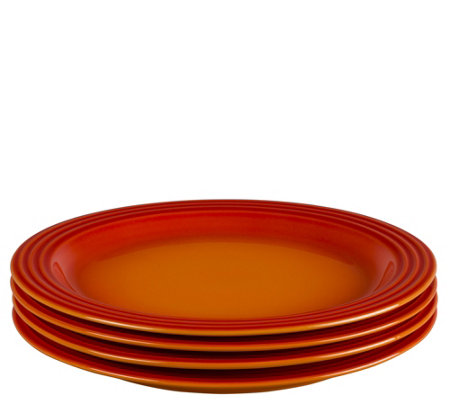 "Le Creuset Set of (4) 11.25"" Dinner Plates"