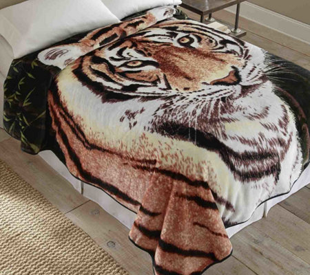 Shavel Hi Pile 90x90 Luxury Coverlet - Tiger