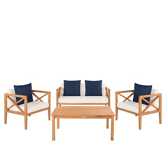 Nunzio 4-Piece Outdoor Patio Set w/Accent Pillows by Valerie