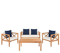 Nunzio 4-Piece Outdoor Patio Set w/Accent Pillows by Valerie - H305667