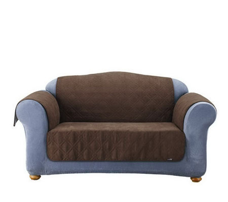 Sure Fit Soft Faux-Suede Furniture Pet Love Seat Throw