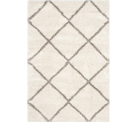 "Safavieh 5'x7'6"" Lattice Hudson Shag Area Rug"