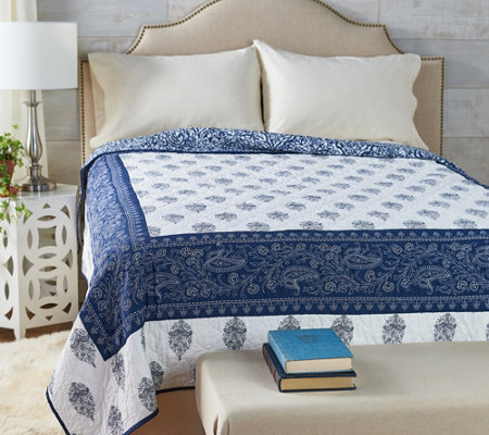 The Quilt Patch Adah King 100% Cotton Pieced Quilt w/ Hotel Border
