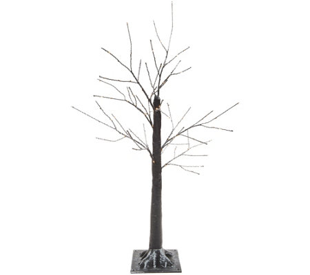 "Indoor/ Outdoor 36"" Illuminated Birch Tree with Base by Valerie"