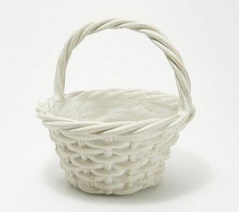 """Martha Stewart Indoor/Outdoor 12"""" Faux Woven Basket Planter - H218768"""