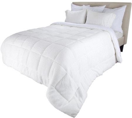 Lavish Home Reversible Down Alt Twin Comforterwith Sherpa