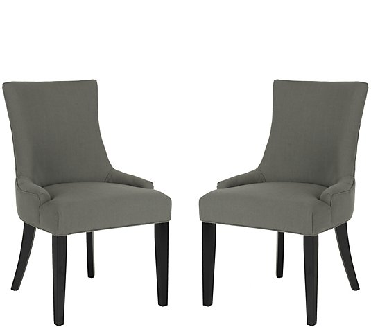 Lester Set of 2 Granite Gray Dining Chairs by Valerie