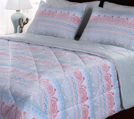 Berkshire Blanket Moroccan Print King Comforterset
