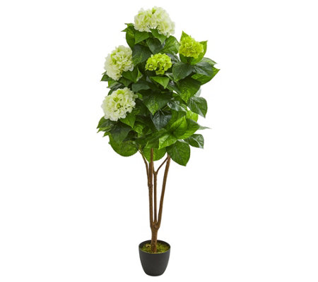 5 Hydrangea Artificial Plant By Nearly Natural