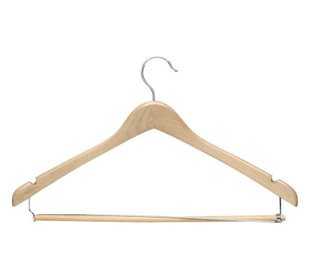 Honey-Can-Do 6-Pack Contoured Maple Finish WoodSuit Hangers