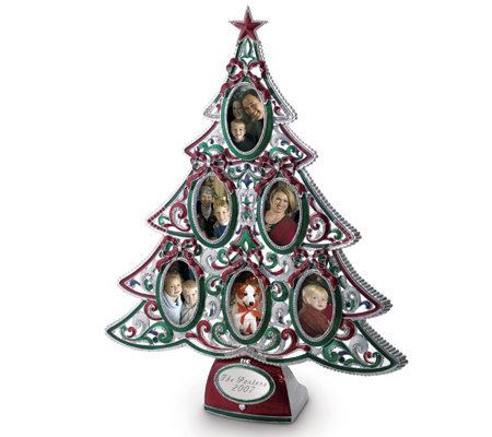 Things Remembered Personalized Christmas Tree Frame — QVC.com