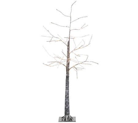 "Indoor/ Outdoor Illuminated 48"" Birch Tree with Base by Valerie"