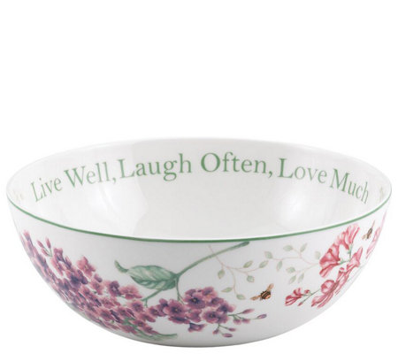 Lenox Butterfly Meadow Live Laugh Love Bowl