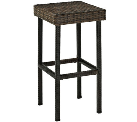 "Palm Harbor Outdoor Wicker 29"" Bar Height Stool- Set of 2"