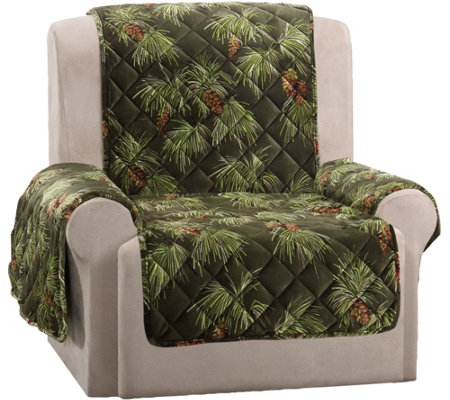 Sure Fit Holiday Plush Recliner Furniture Cover