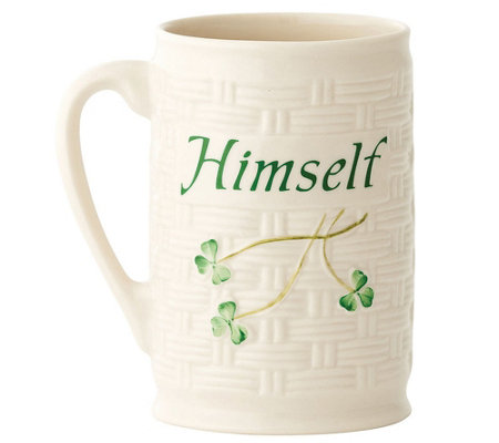 Belleek Himself Novelty Mug