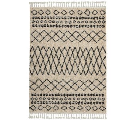 Nourison Moroccan Marrakesh Shag Cream 5 3 X 7 11 Area Rug