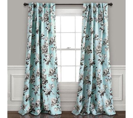 Tania Floral Room Darkening Window Curtains byLush Decor