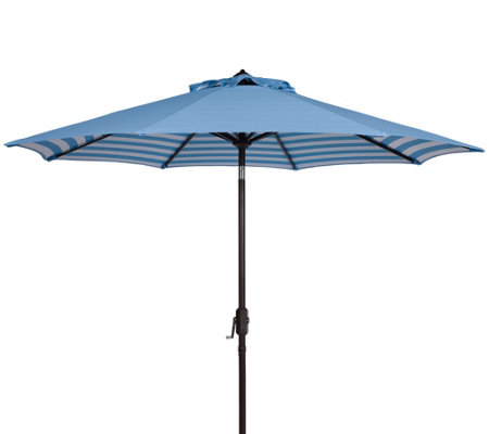 Athens Striped 9' Crank Outdoor Auto Tilt Umbrella by Valerie