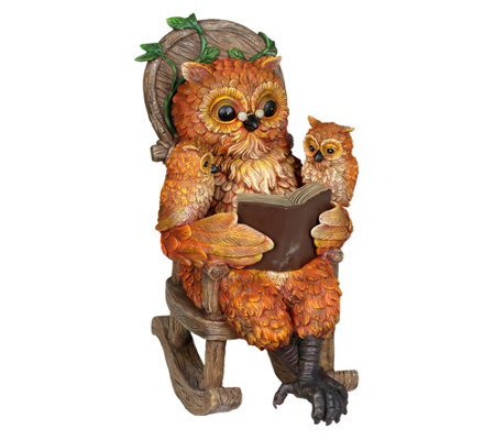 12 Solar Owl Reading Story In Rocking Chair Byexhart