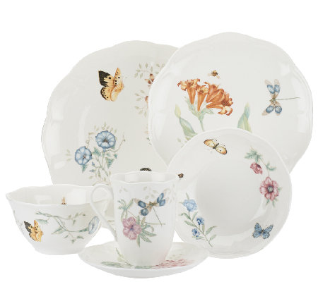 Lenox Butterfly Meadow 24-pc. Porcelain Dinnerware Set  sc 1 st  QVC.com & Lenox Butterfly Meadow 24-pc. Porcelain Dinnerware Set - Page 1 ...