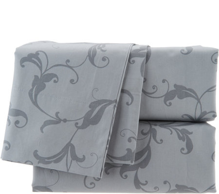 Casa Zeta-Jones 400TC 100% Cotton Printed Scroll Sheet Set