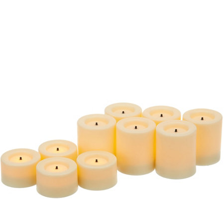Candle Impressions Set of 10 Votive Candles w/ Timer