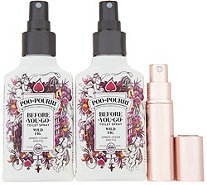 Poo-Pourri Set of (2) 4-oz Deodorizers with Glitzy Spritz - H218770