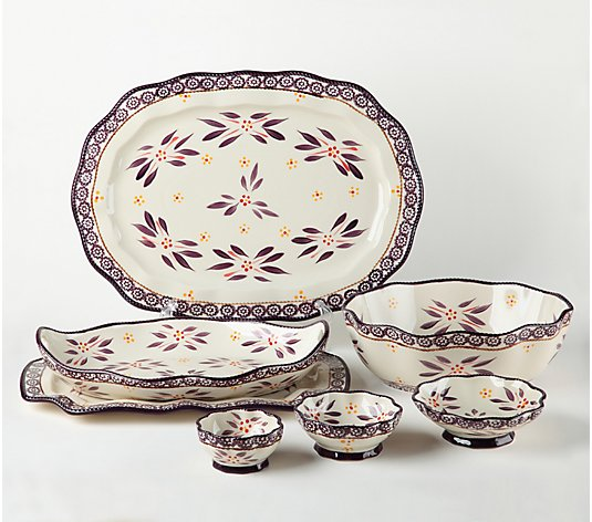 Temp-tations Old World 7-Pc Specialty Nested Serving Set