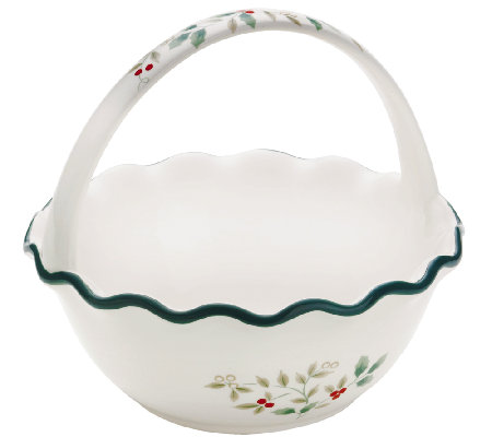 Pfaltzgraff Winterberry Handled Ruffled Bowl