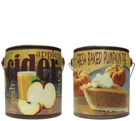 A Cheerful Giver Set of 2 Fall Farm Fresh 20-ozCandles