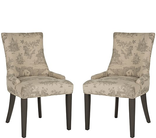 Lester Set of 2 Taupe Dining Chairs by Valerie