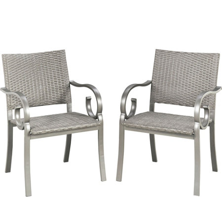 Home Styles Capri Set of 2 Arm Chairs