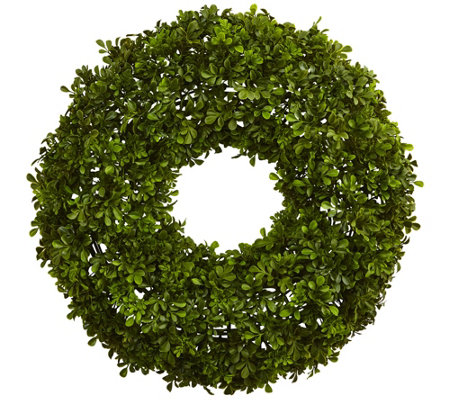 "22"" Boxwood Wreath by Nearly Natural"