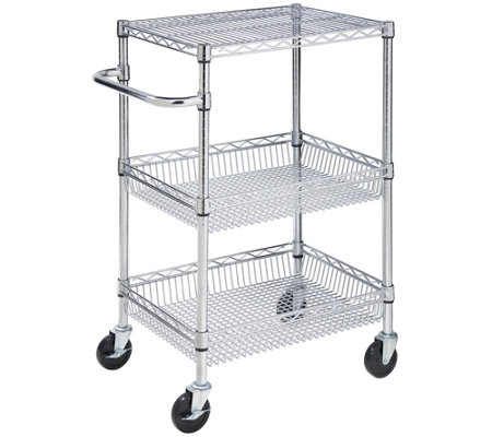 Honey-Can-Do 3-Tier Chrome Urban Utility Cart