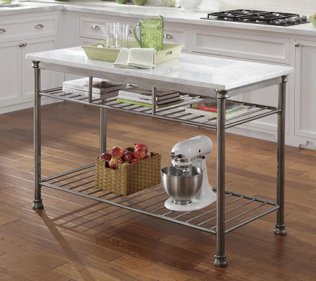 Ordinaire Home Styles The Orleans Kitchen Island With Marble Top U2014 QVC.com
