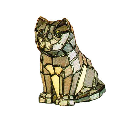 Tiffany Style Cat Accent Lamp