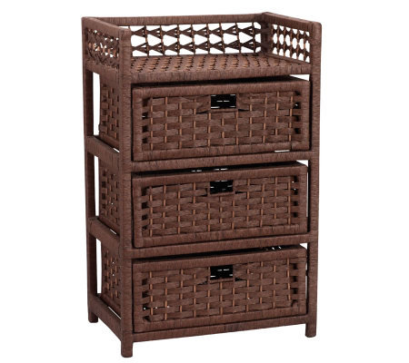 Household Essentials Paper Rope 3-Drawer Chest