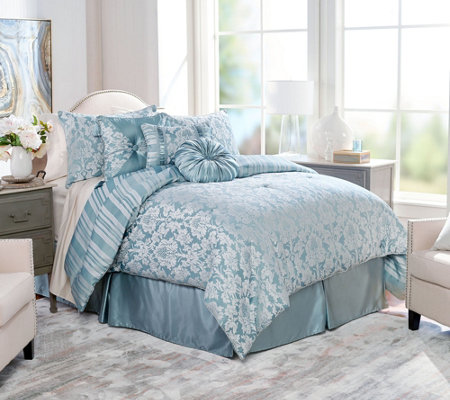 """As Is"" Northern Nights Jacquard Reversible 7 pc CK ComforterSet"