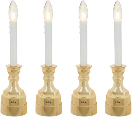 Bethlehem Lights Set of 4 Warm Welcome Battery Op. Window Candles
