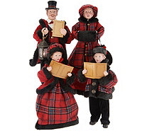 Family of 4 Dickens Victorian Carolers by Valerie - H216371