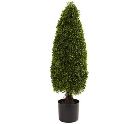 3' Boxwood Tower Topiary by Nearly Natural