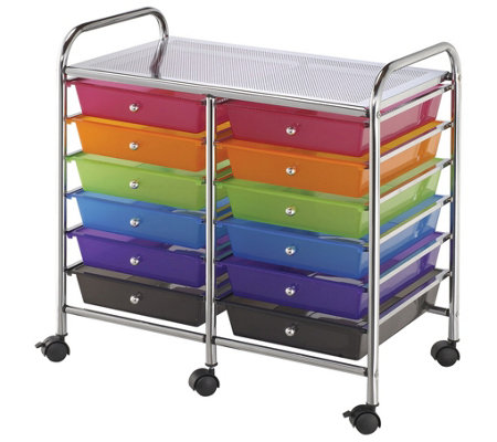 Alvin & Company Multicolor 12-Drawer Storage Cart