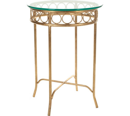 Asa Glass Top Round Accent Table by Valerie