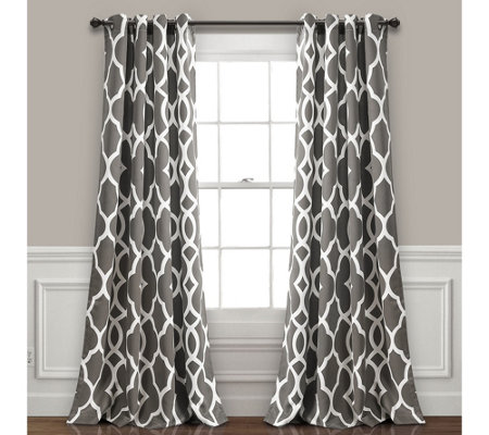 Connor Geo Room Darkening Window Curtains by Lush Decor