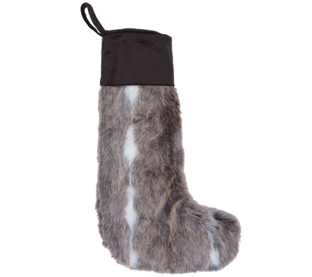 8 X 19 Snow Mink Collection Stocking By Vickerman