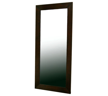 Daffodil Floor Mirror in Light Cappuccino Rubberwood Frame